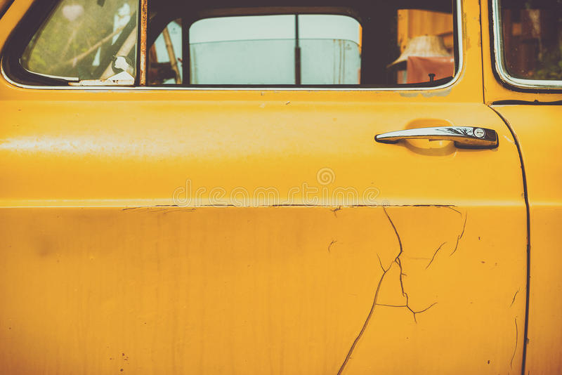 Background old vintage car door. royalty free stock photography