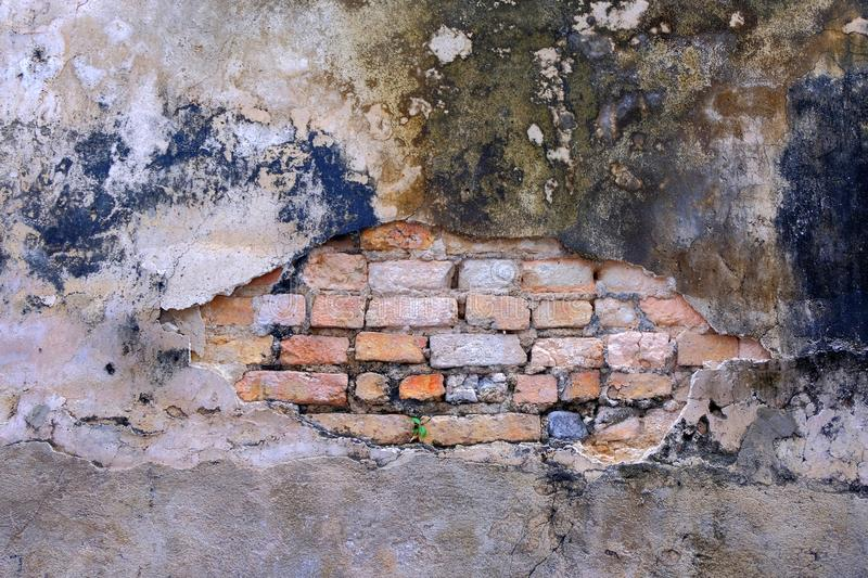 Background of Old wall and a broken surface royalty free stock photos