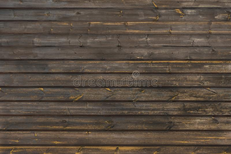 Background from old wooden boards of dark gray color. Moscow Region, Russia royalty free stock photo