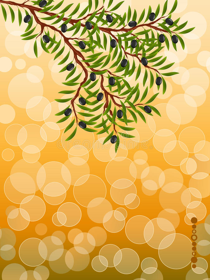 Download Background With A Olive Branch Stock Vector - Illustration: 18874341