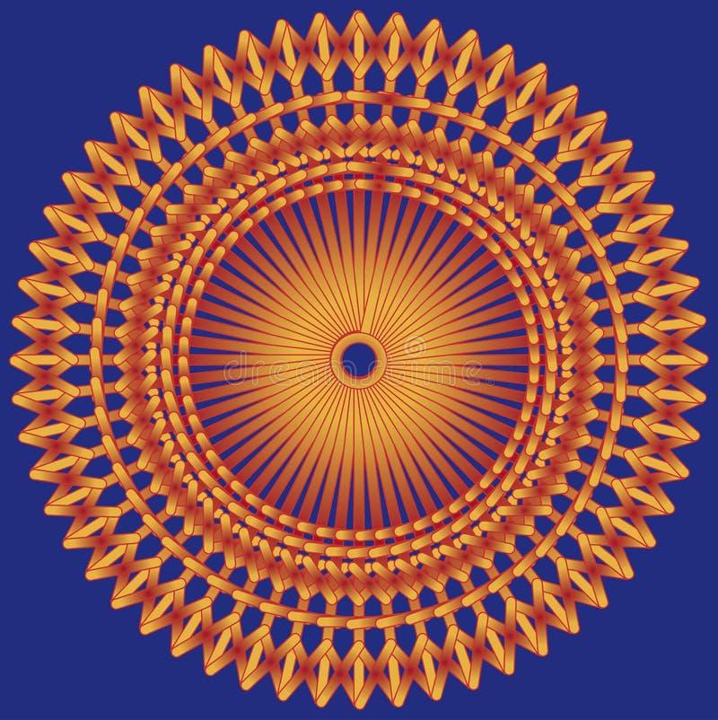 Background Orange Blue Royalty Free Stock Image