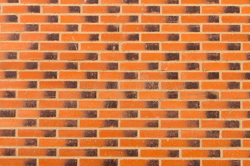 Background of orange brick wall pattern texture.  stock photography