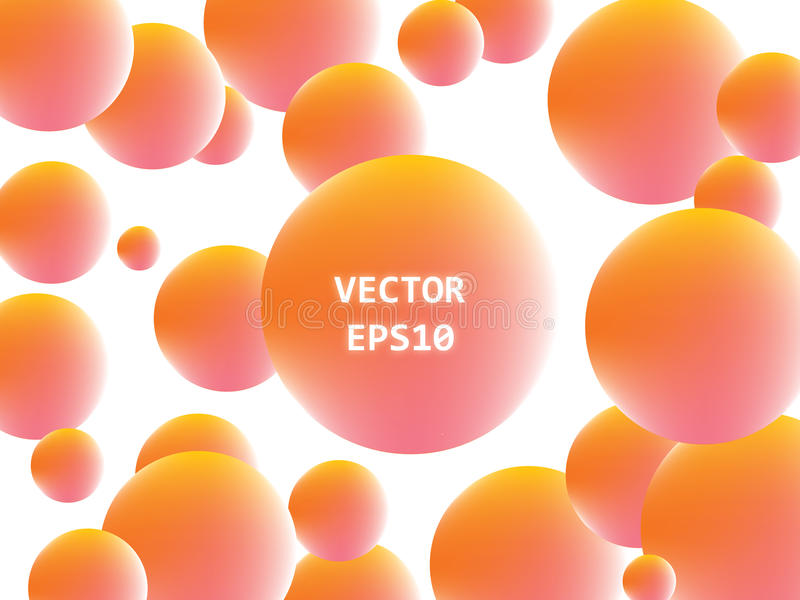 The background of orange and yellow balls royalty free stock images