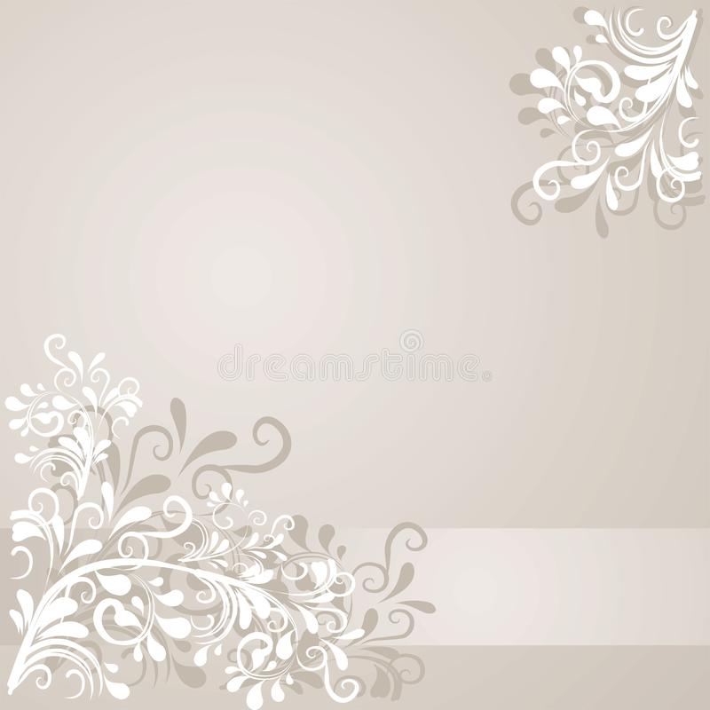 Background with ornaments. Lovley background with ornaments and space for text stock illustration