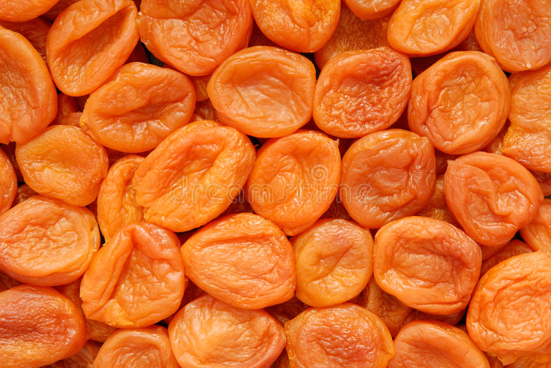 A background is out of dried apricots.