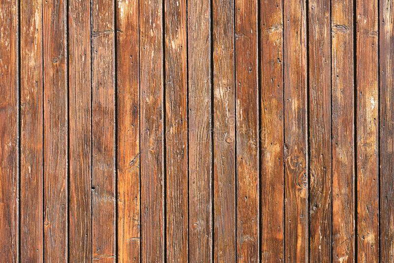 Painted brown board wall stock image