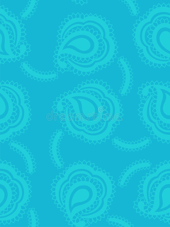 Download Background With Paisley Pattern In Marine Style Stock Vector - Image: 13228123