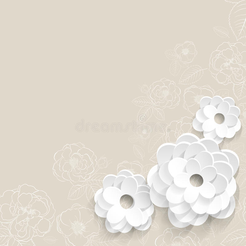Background with paper flowers stock vector illustration of love download background with paper flowers stock vector illustration of love origami 37244257 mightylinksfo