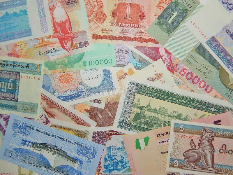 Background Of Banknotes Of The World Paper Money Editorial