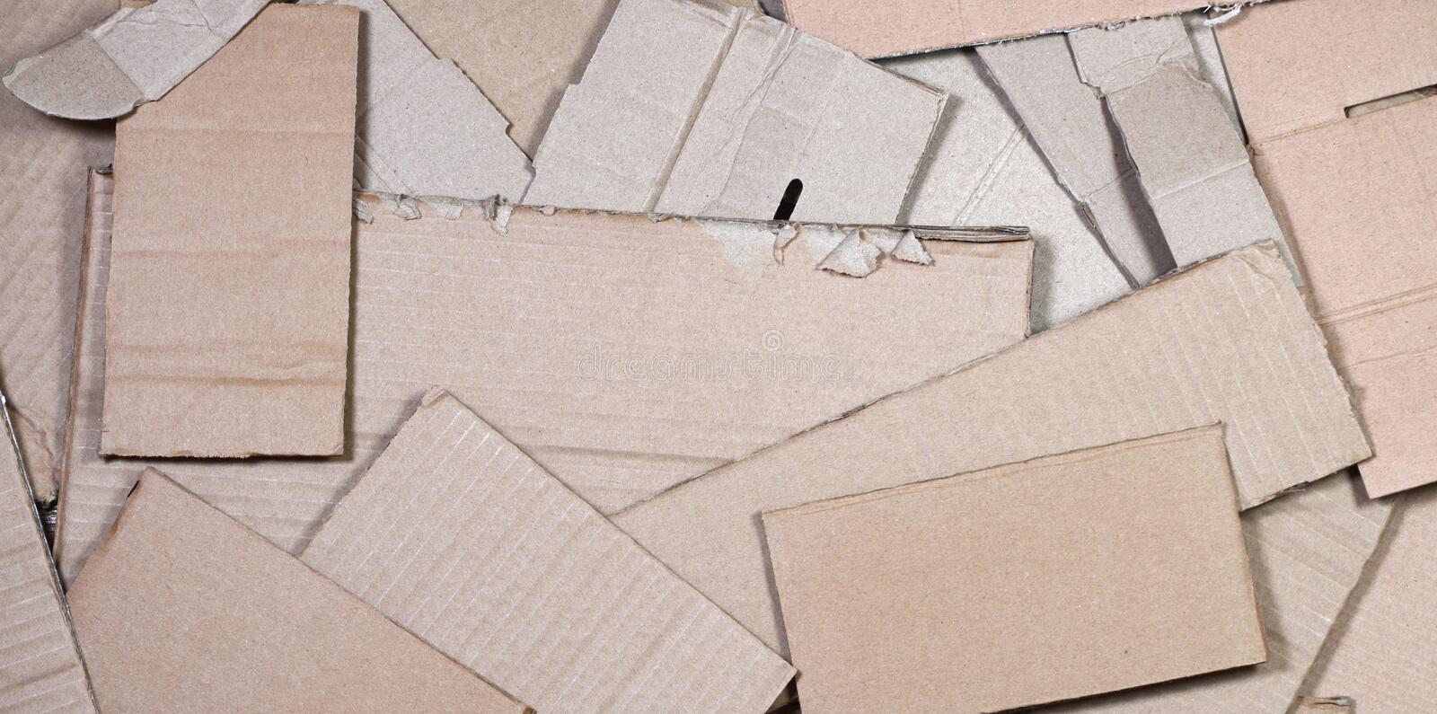 Background of paper textures piled ready to recycle. A pack of old office cardboard for recycling of waste paper. Pile of royalty free stock photos