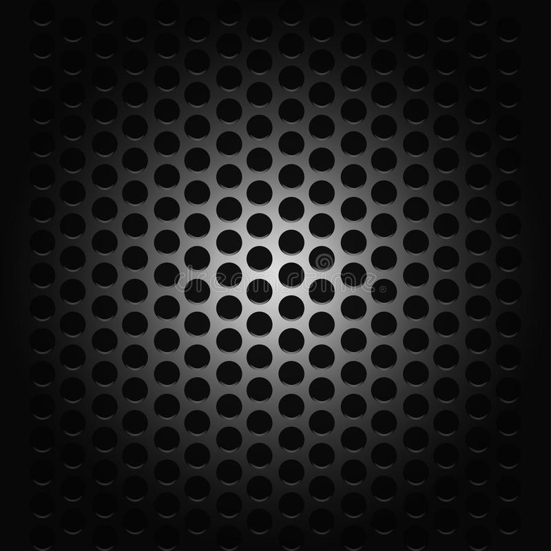 Background with passion for music black grid. Vector royalty free illustration