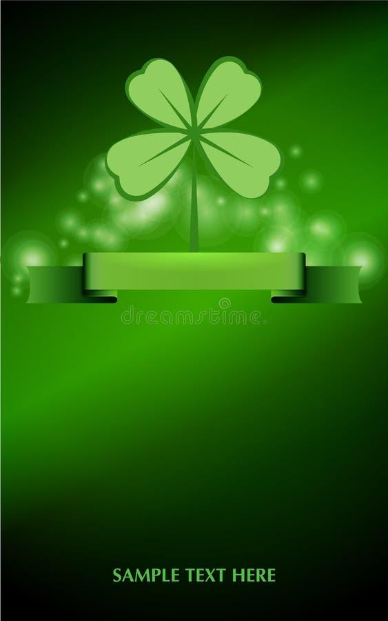 Background for Patrick s day poster stock illustration