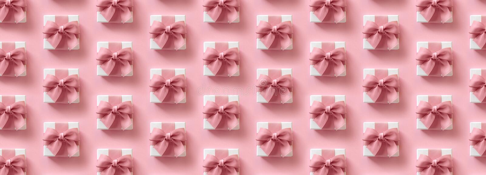 Background pattern with gift parcels royalty free stock images