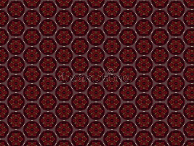 Background with a pattern of leather and velvet with delicate gold threads royalty free stock images