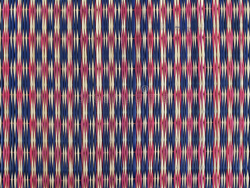 colorful traditional Thai weave mat pattern background, colors design like Thai flag stock photos