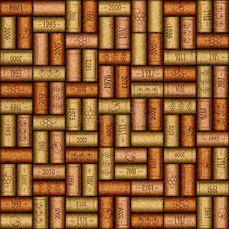 Free Background Pattern Of Wine Bottles Corks - Seamless Background Royalty Free Stock Image - 64033736