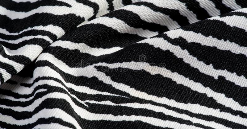 Background, pattern, texture, wallpaper, With the coloring of the animal zebra skin. This extremely soft animal print fabric is stock photos