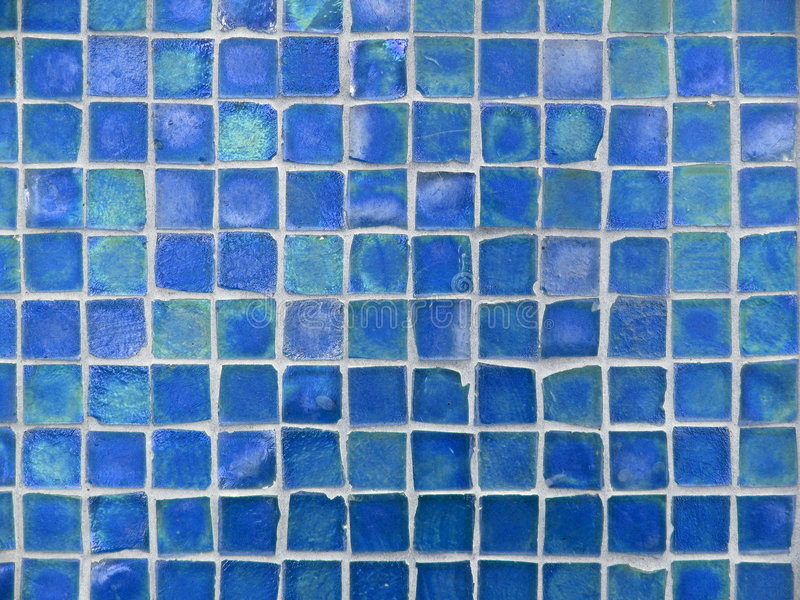 Background Pattern of Turquoise and Blue Glass Tiles