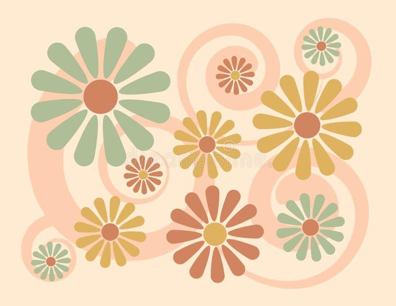 Background_Peach floral ilustración del vector
