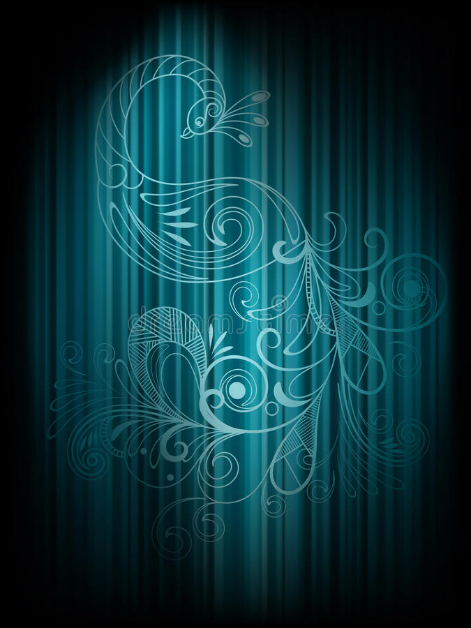 Background with peacock royalty free illustration