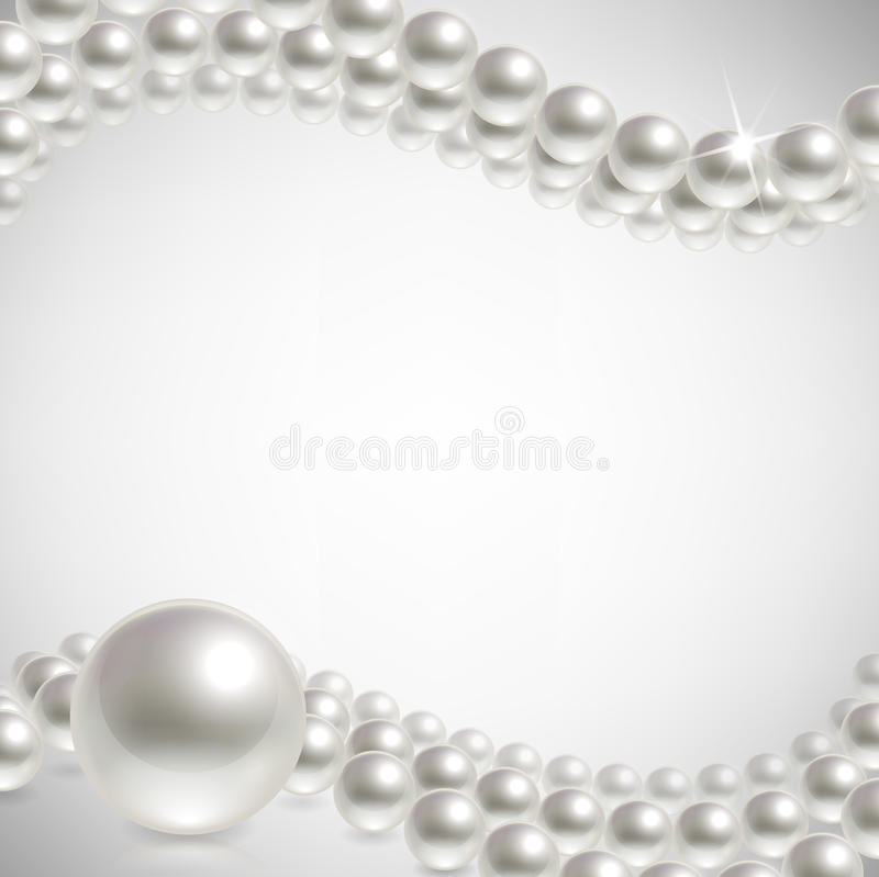 Background pearls stock illustration