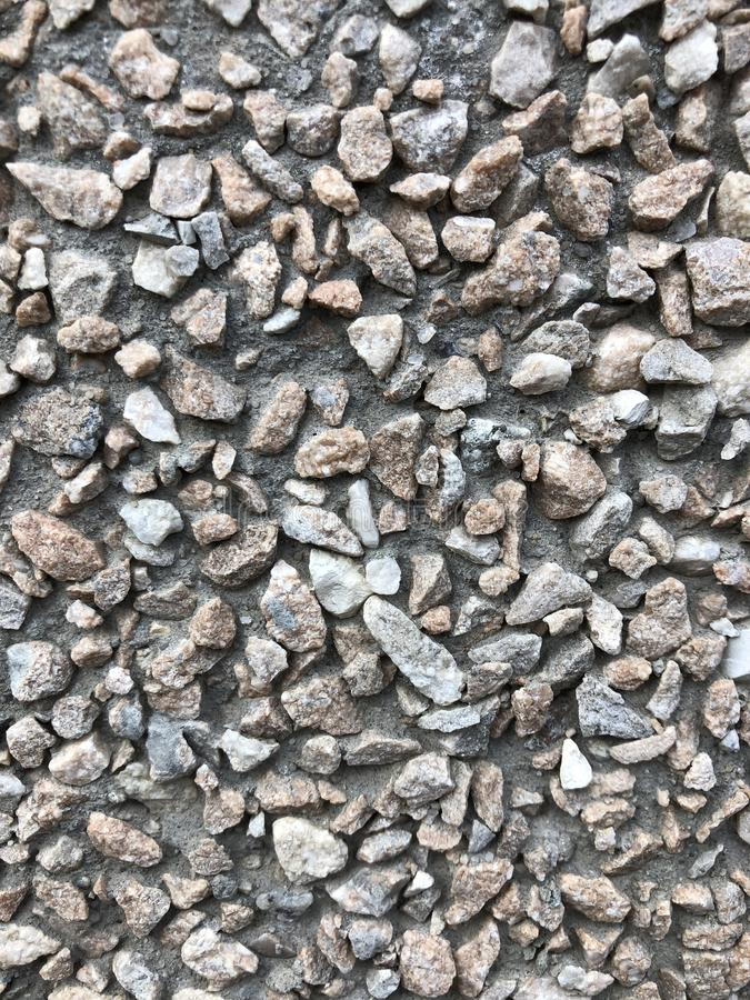 background pebble in cement background texture decoration stock image