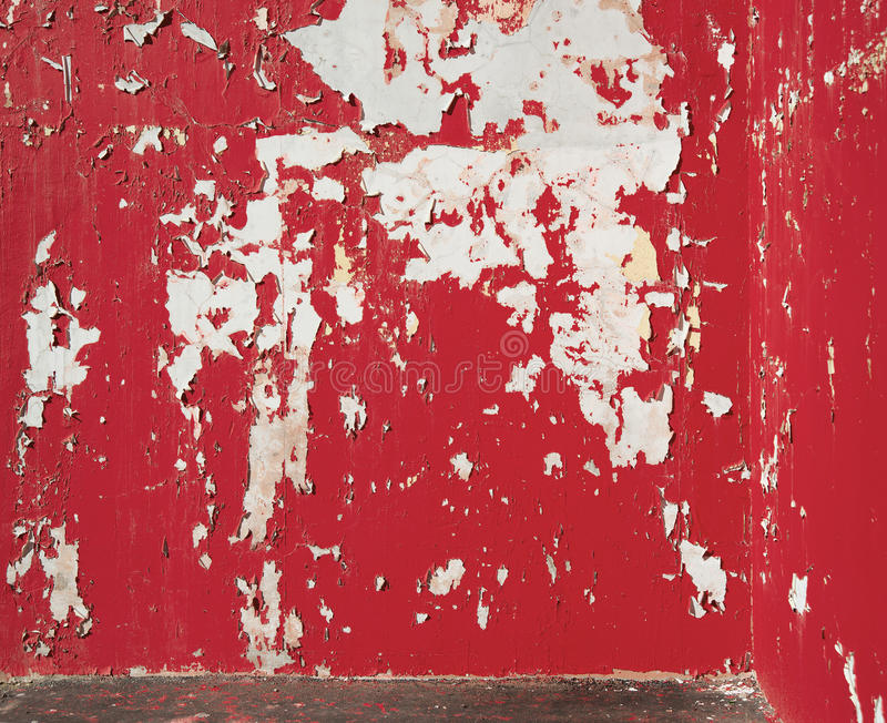 Background peeled red paint on the wall. royalty free stock photo