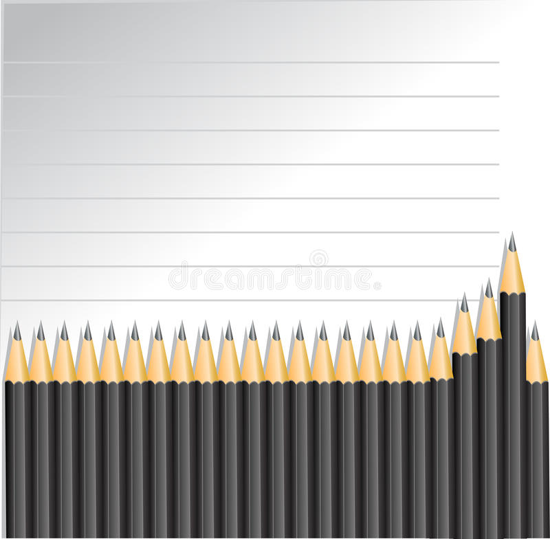 Background with pencils and lines royalty free stock photography