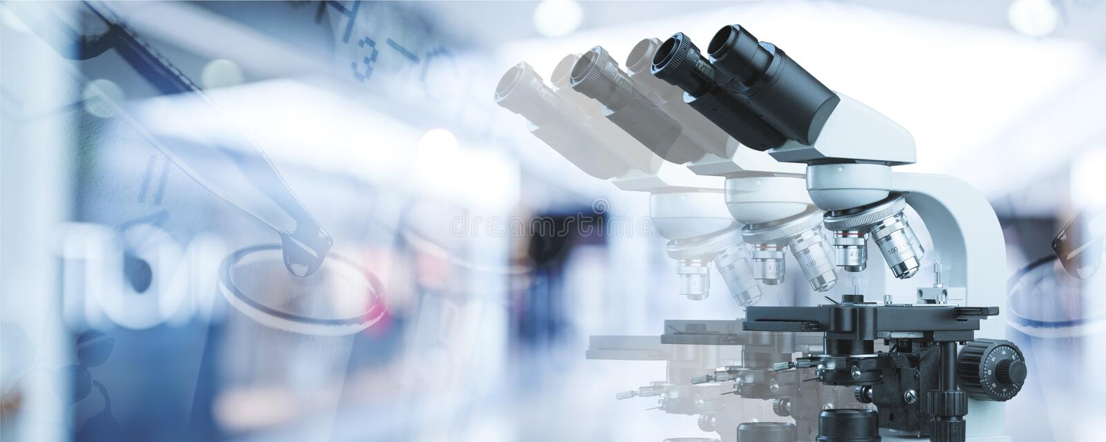 Background. Pharmaceutical research scientific banner abstract biotech royalty free stock image