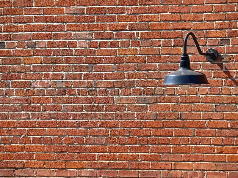 Background Picture of Lamp on the Brick Wall stock images