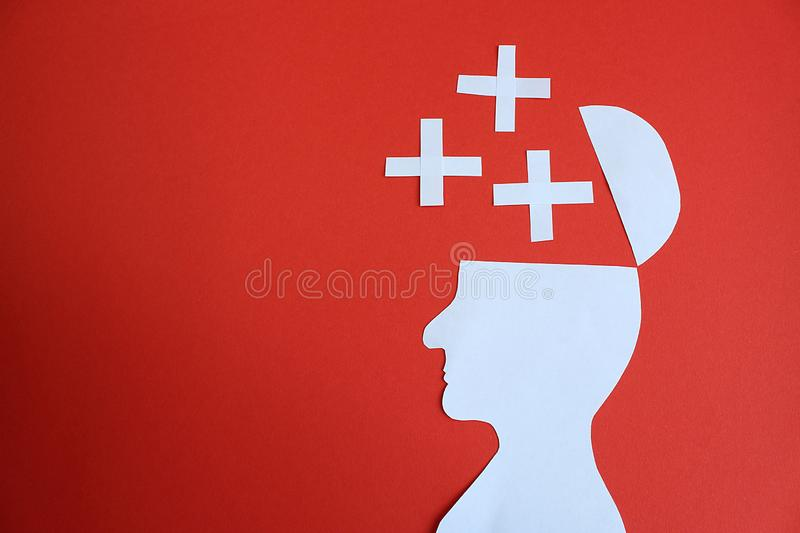Image of a man man cut out of paper cartoon stock photography