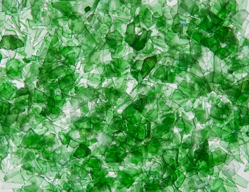 Background of the pieces of plastic bottles stock image