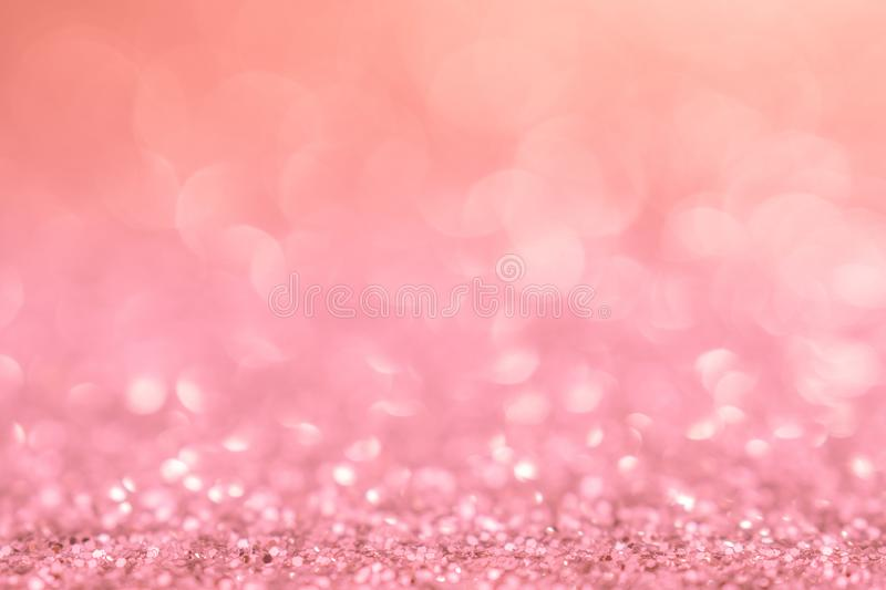 Background pink christmas light glitter abstract xmas with bokeh background celebration bright light pink party elegant backdrop. And sparkle for love valentine royalty free stock photo