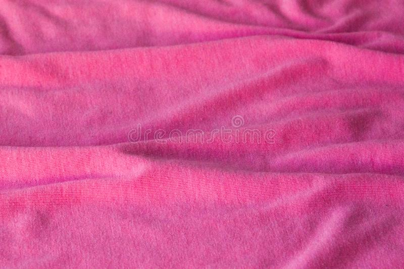 Background of pink fabric. Can be used as background, wallpaper royalty free stock images