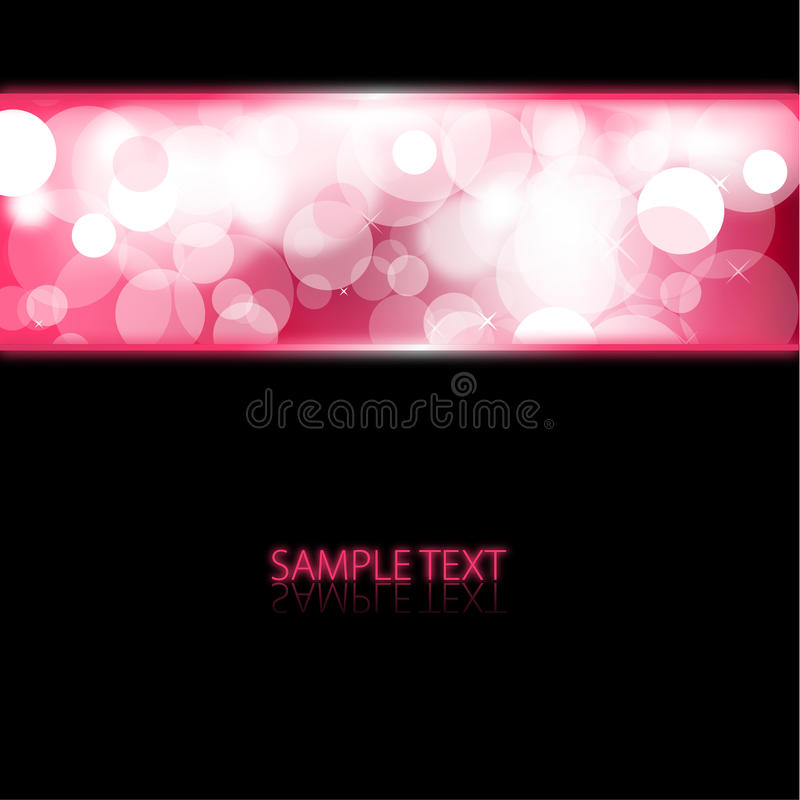 Background with pink glowing lights vector illustration