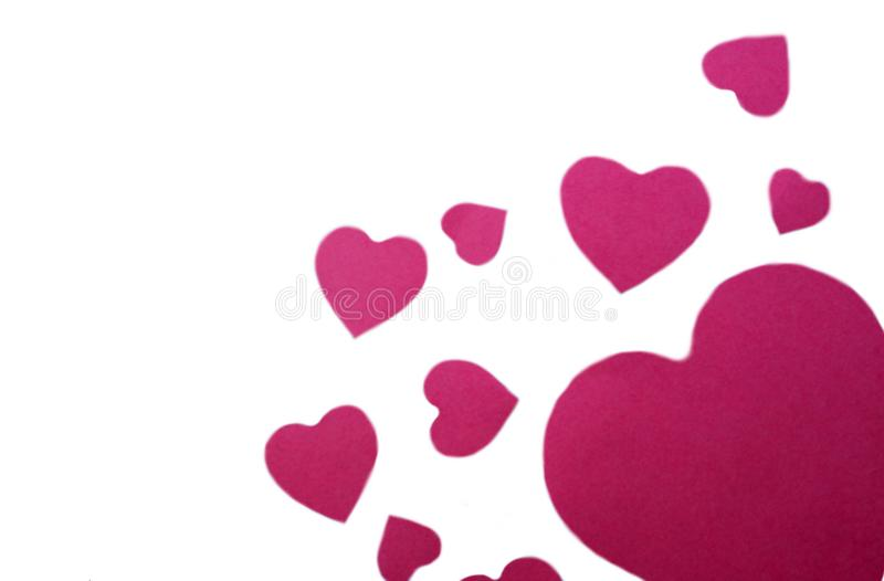 Background of pink seryochki a lot and different stock image