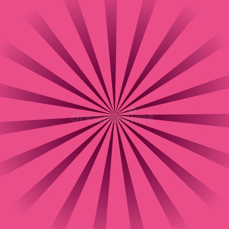 Background pink sunburst stock illustration