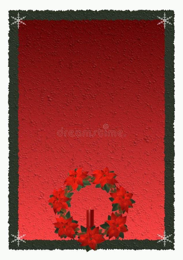 background poinsettia διανυσματική απεικόνιση