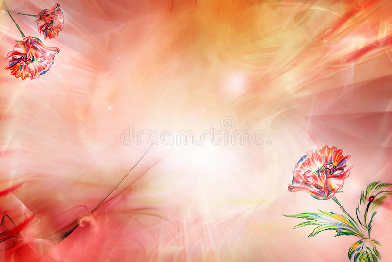 Download Background with poppy stock illustration. Illustration of drawing - 17119844