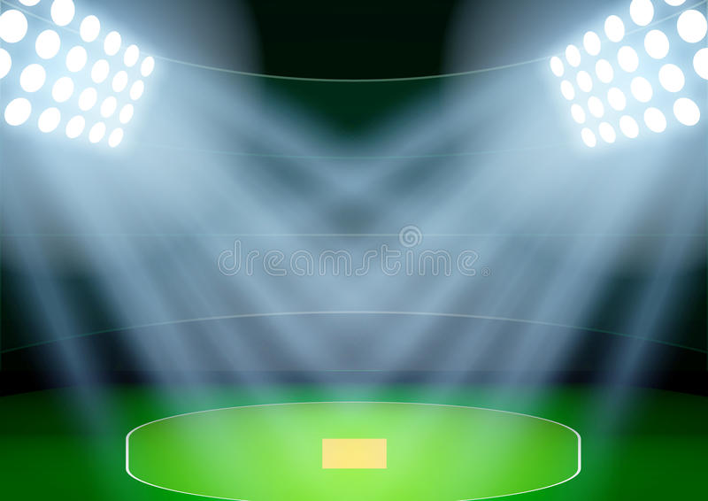 background for posters night cricket stadium in the spotlight  vector stock vector