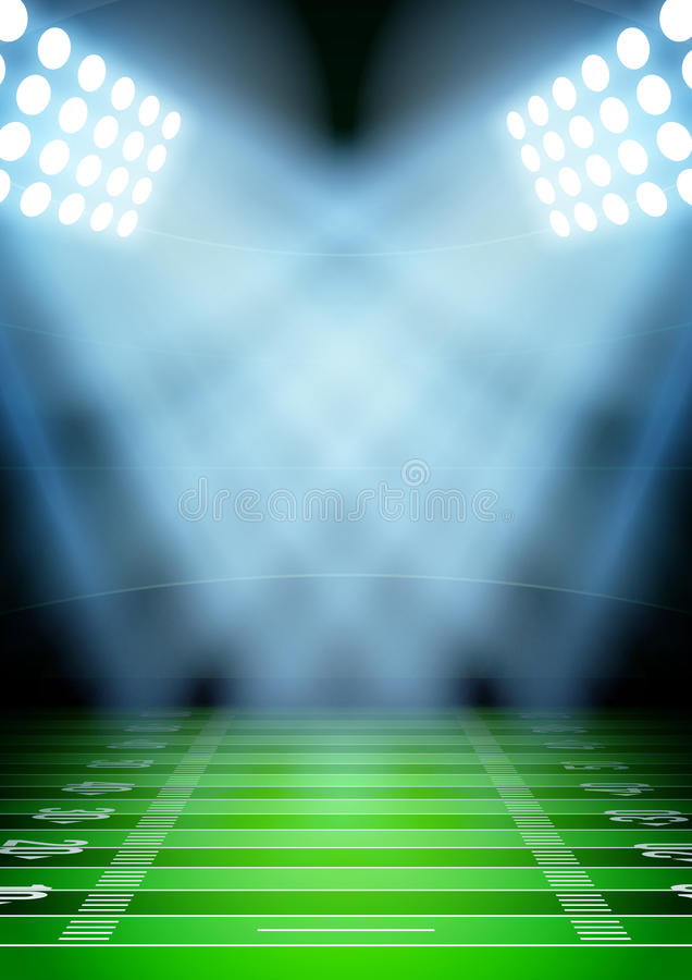 Background For Posters Night Football Stadium In Stock