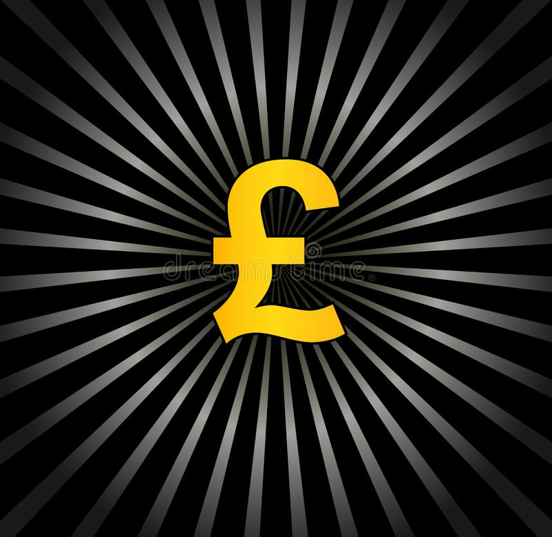 Background with pound sterling stock image