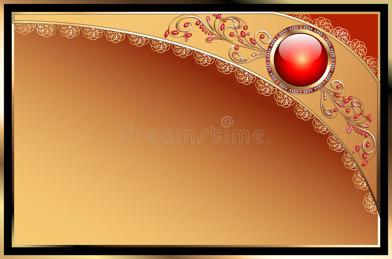Download Background With Precious Stones, Gold Pattern For Stock Vector - Image: 32873974