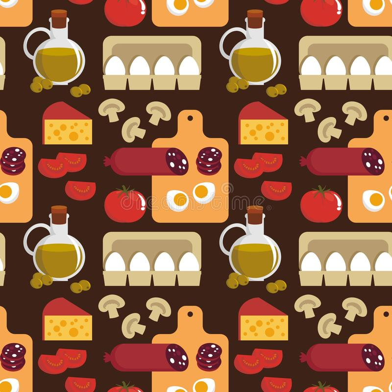 Download Background With The Products For Pizza Stock Vector - Image: 23113758