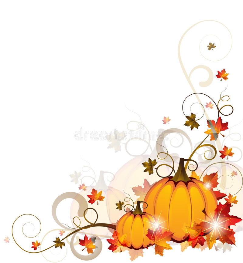 Background with Pumpkins vector illustration