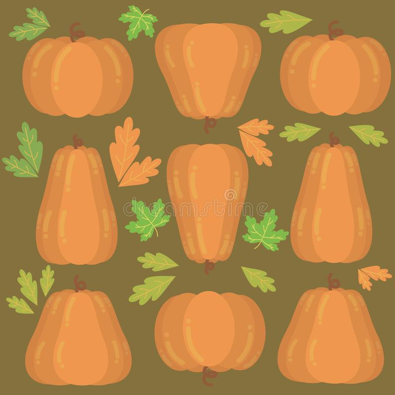 Background with pumpkins for Thanksgiving and Halloween royalty free illustration