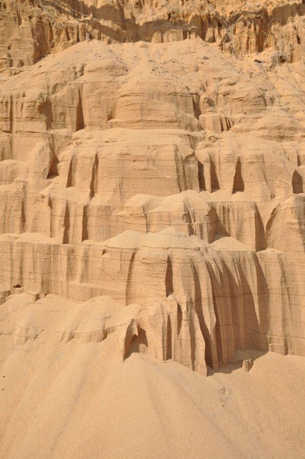 Background Of Quartz Sand. Stock Photo