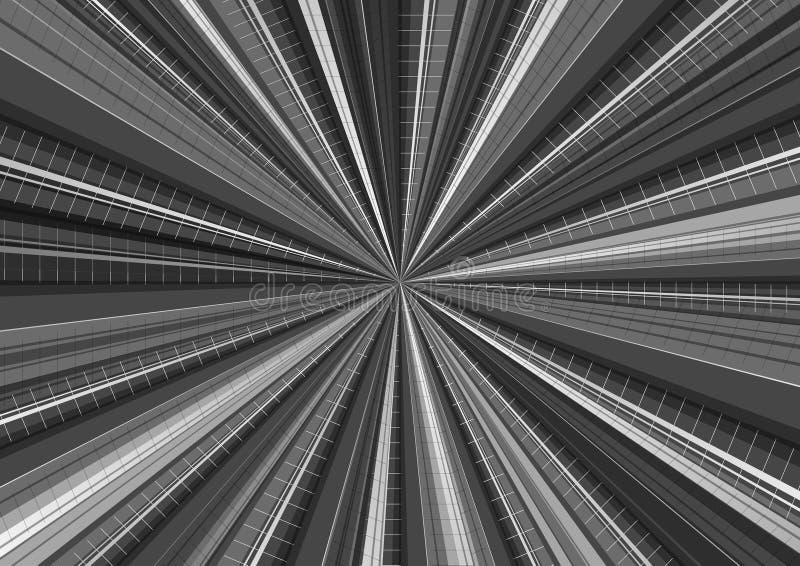 Background radiation gray Scale royalty free illustration