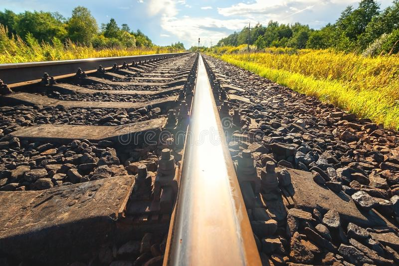Background of railway tracks stock images