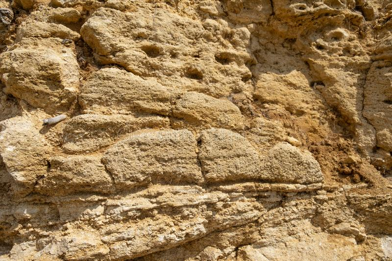 Background of real sand. Part of the mountain closeup shot royalty free stock image